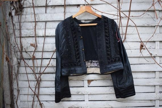 Antique (1930's) Hungarian Black Brocade Jacket, b
