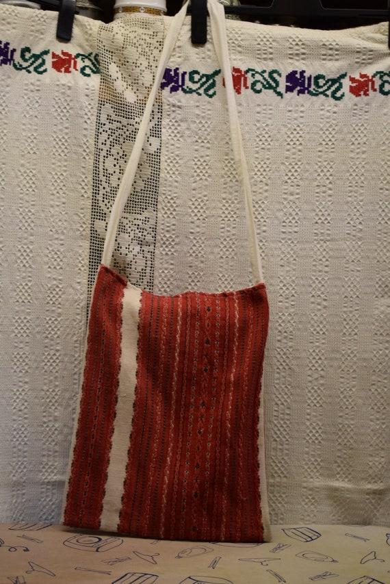 Vintage Traditional Hungarian hand made linen bag… - image 2