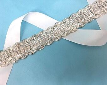 Bridal Rhinestone Belt, Crystal Bridal Sash, Crystal Bridal Belt, Crystal Wedding Belt, Crystal Rhinestone Belt, Crystal Belt Sash,