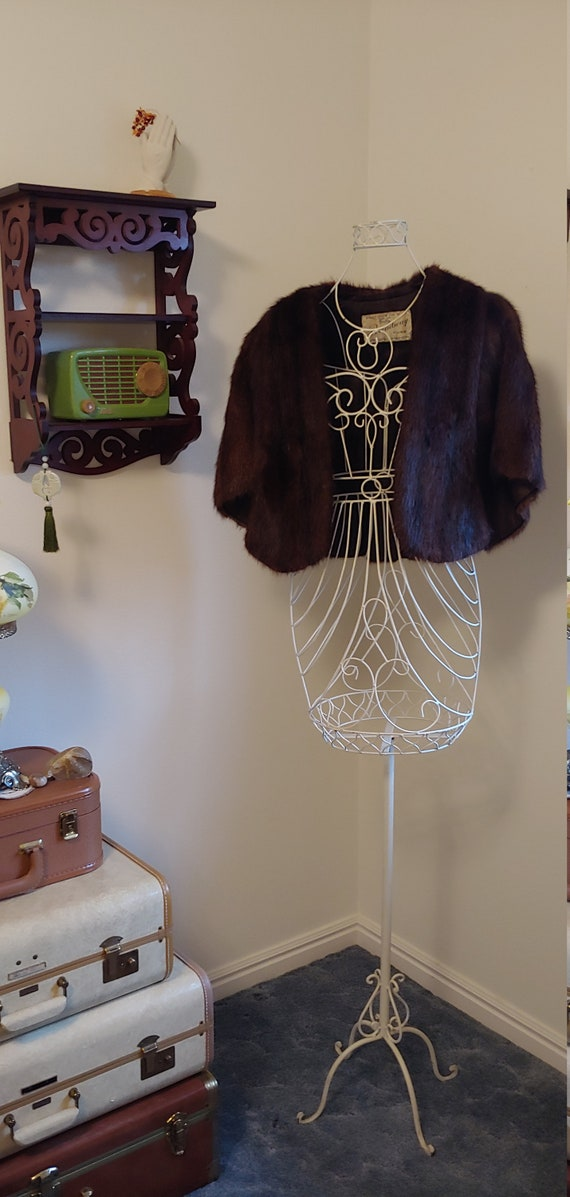 Beautiful Dark Brown Vintage Genuine Fur Stole