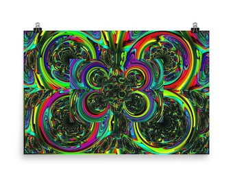 Abstract Art Inspirational Cool Home Decor Unique Wall Eye Gaze ALS Colorful Trippy