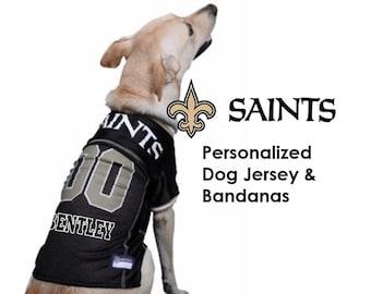 6e347f9d302 New Orleans Saints Pet Dog Jersey - Personalized