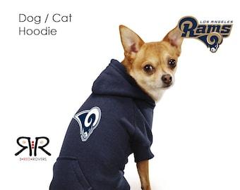 a5888b80d LA Rams Dog Hoodie   Sweatshirt