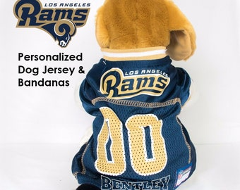 d325620aa58 Los Angeles Rams Dog Jersey - Super Bowl bound - Personalized