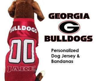 4a2d8722952 Georgia Bulldogs Dog Jersey - Personalized