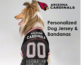 2dd63891f Arizona Cardinals Pet Dog Jersey & Bandana - Personalized