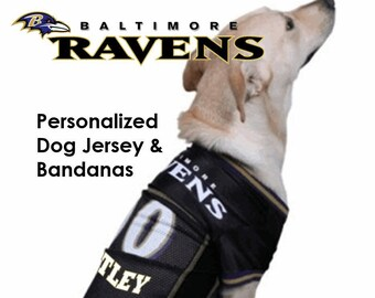 Baltimore Ravens Pet Dog Jersey - Personalized cfb651082