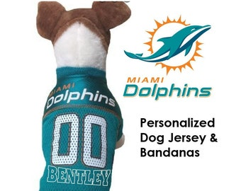b364e65b07c Miami Dolphins Pet Dog Jersey - Personalized