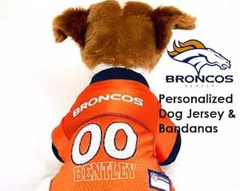 Denver Broncos Pet Dog Jersey - Personalized 4e3810479