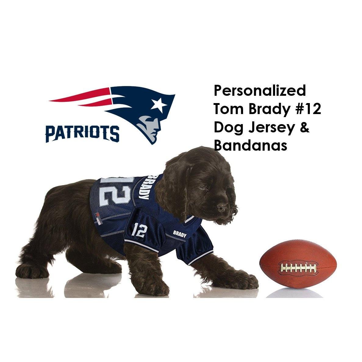 5bb6ead64bc Tom Brady New England Patriots Pet Dog Jersey Personalized | Etsy