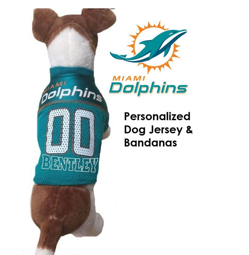 cheap for discount d1e2a 06ddb Miami Dolphins Pet Dog Jersey - Personalized