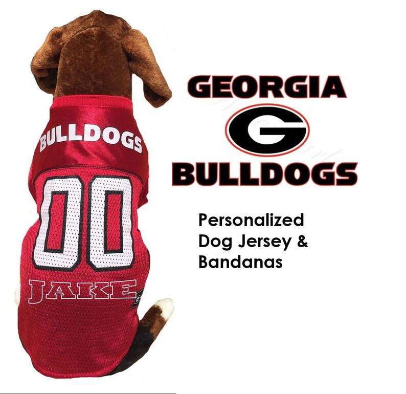 sale retailer 4e205 2377f Georgia Bulldogs Dog Jersey - Personalized