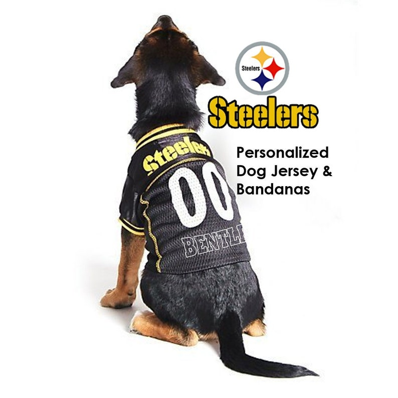 16360c5fcdf Pittsburgh Steelers Pet Dog Jersey Personalized   Etsy