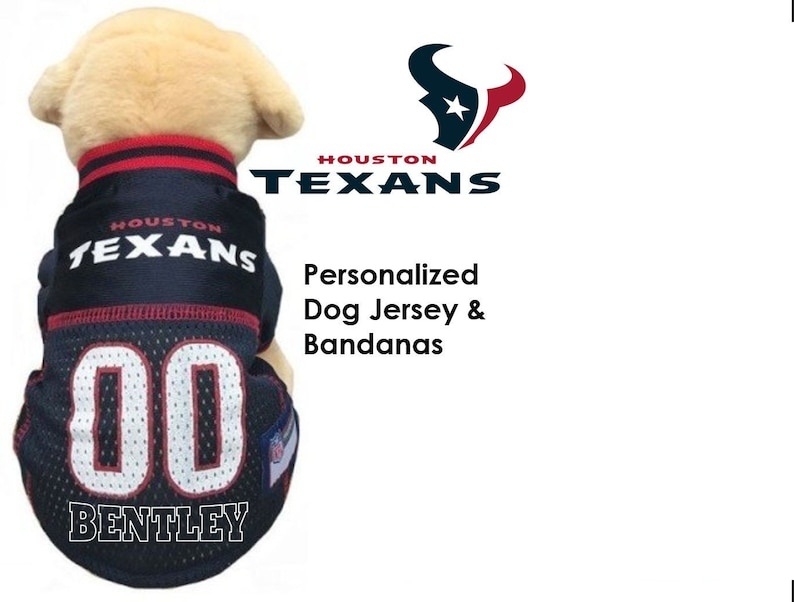 new concept dff7b 4e504 Houston Texans Pet Dog Jersey - Personalized