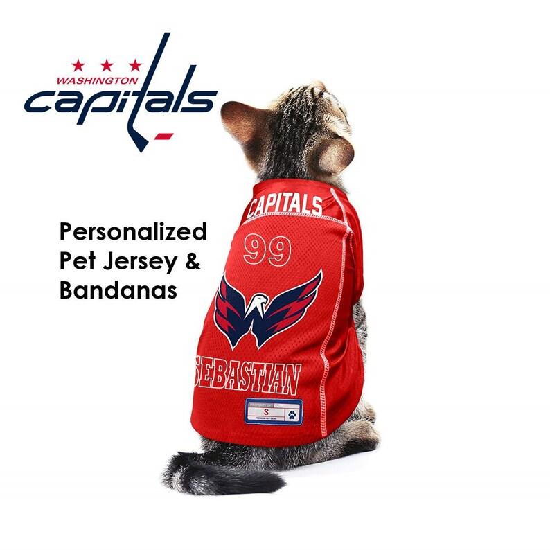 size 40 02c4c 5a520 Washington Capitals NHL Dog Jersey - Personalized
