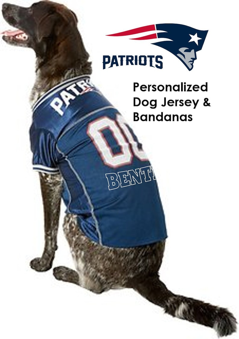 newest 7044d a5efe New England Patriots Pet Dog Jersey - Personalized