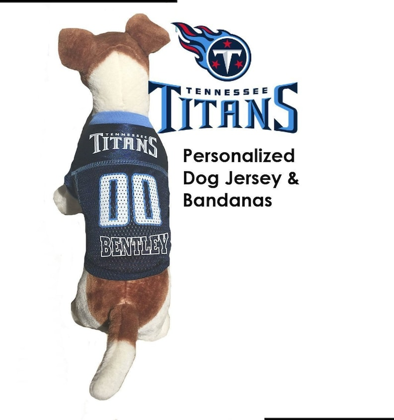 32a65c6dcbe Tennessee Titans Pet Dog Jersey Personalized