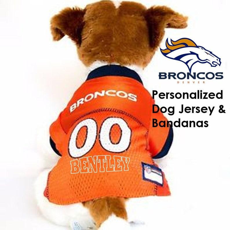 detailing 9671d 8a214 denver broncos dog jersey