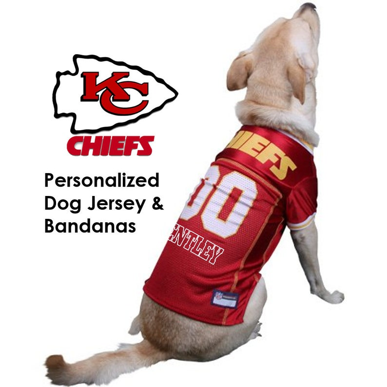 huge discount 74229 73530 Kansas City Chiefs Pet Dog Jersey - Personalized