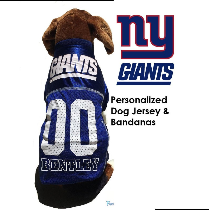 cheaper 51440 d56c3 New York Giants Pet Dog Jersey - Personalized
