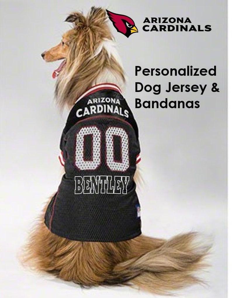 best service e6023 95388 Arizona Cardinals Pet Dog Jersey & Bandana - Personalized