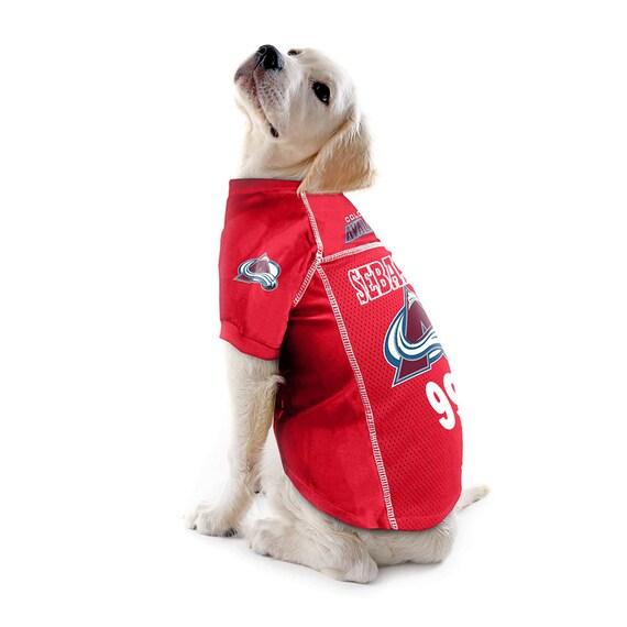 reputable site 47f61 e0871 Colorado Avalanche NHL Dog Jersey - Personalized