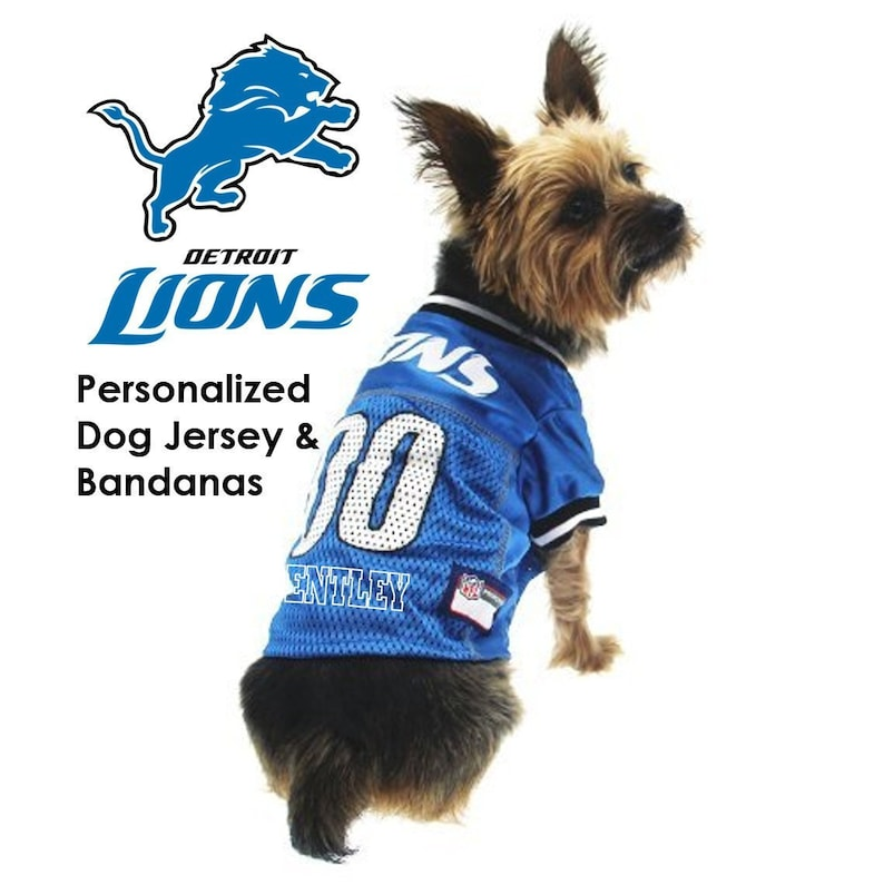 quality design 72974 2447f Detroit Lions Pet Dog Jersey - Personalized