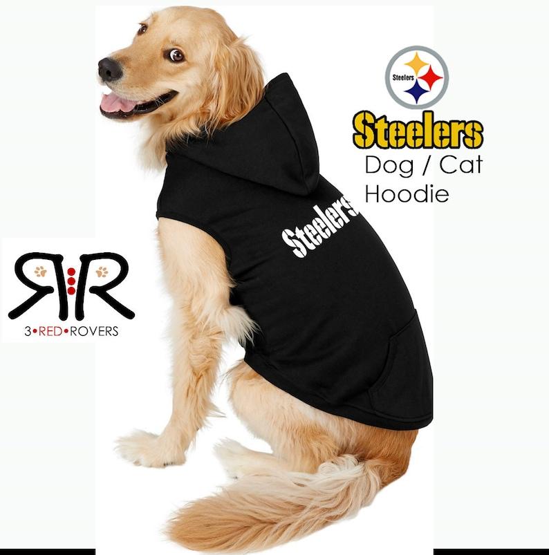 9734b4baed1 Pittsburgh Steelers Dog Hoodie / Sweatshirt   Etsy