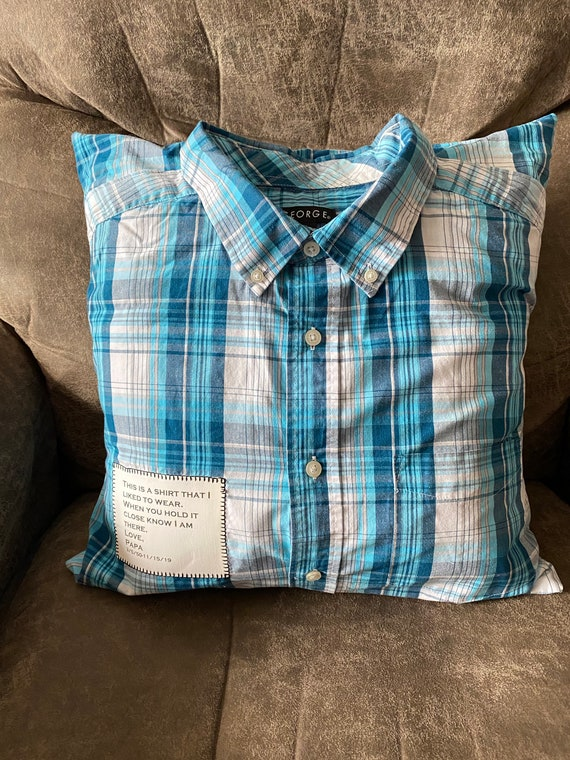 Memory Pillow With Collar From Shirt of