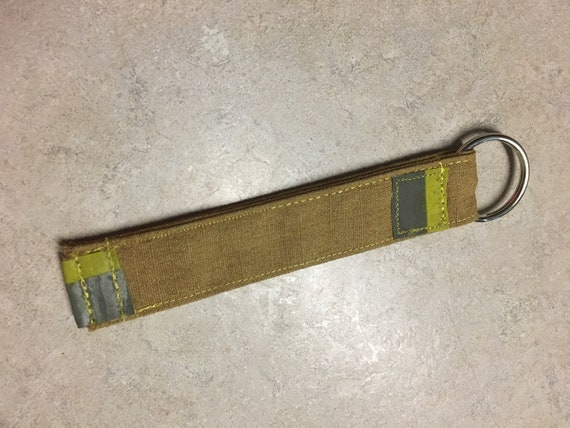 Key Fob Firefighter Key Chain Turnout Gear Bunker Gear Firefighter Gift