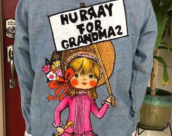 "Vintage ""Hurray For Grandma 2"" shirt"
