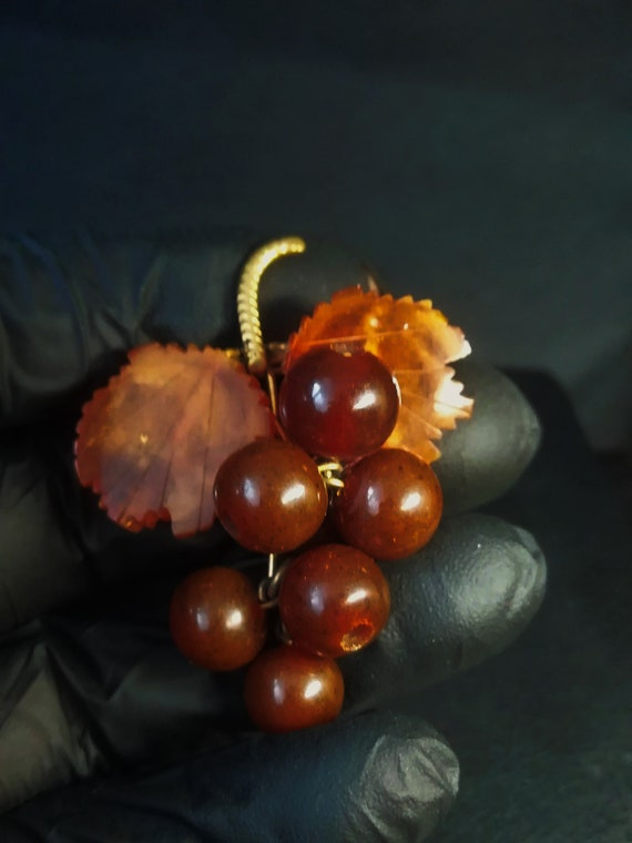 Baltic amber brooch  amber brooch Jewelry pin Kali
