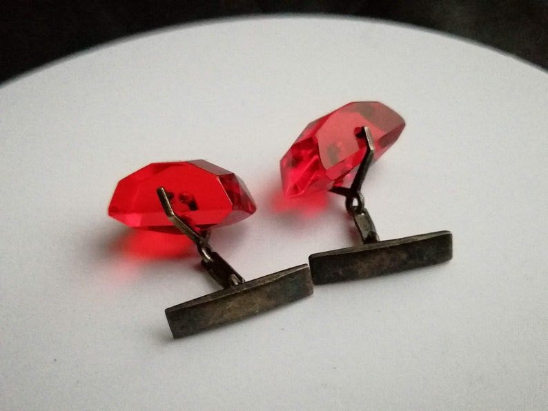 Part Of Collection gift fo he costume jewelry weight 10.35 grams Rare USSR Gold Plated Sterling Silver 875 Cufflinks