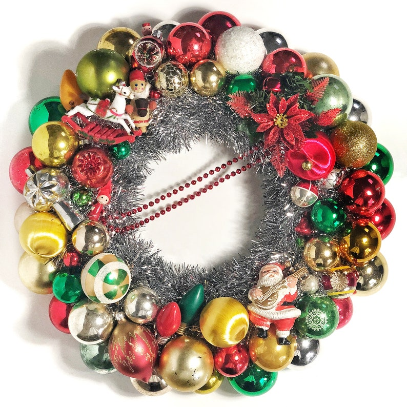 and Gold Ornaments Red Christmas Ornament Wreath Christmas Colors Silver Green