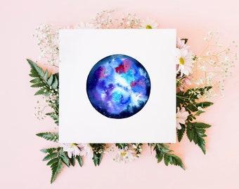 Libra greeting card / star sign card / watercolour art / blank card / original watercolour print / square fine art card