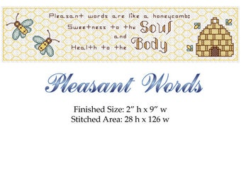 Pleasant Words...Are Like a Honeycomb. Saying from Proverbs! This bookmark is an easy to read chart with immediate download