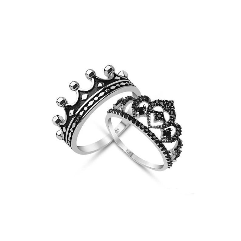 b88de7de44a1 Crown ringsilver crown ringqueen ringking ringcrown ring
