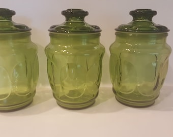 Popular Items For Green Glass Canister