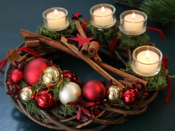 traditional german advent wreath an advents kranz to. Black Bedroom Furniture Sets. Home Design Ideas
