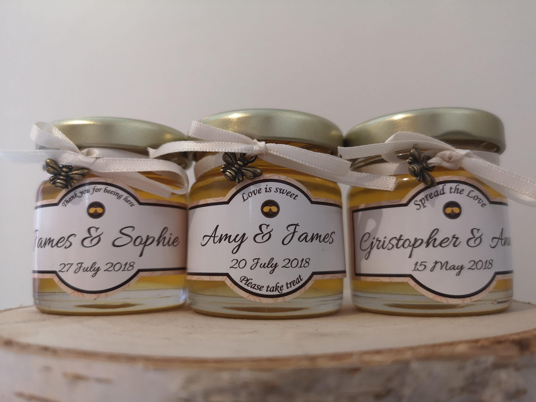 Personalised honey favors wedding favors bridal favors
