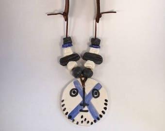 Handmade Ceramic Statement Piece Necklace