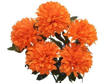 Orange Silk Flowers Etsy