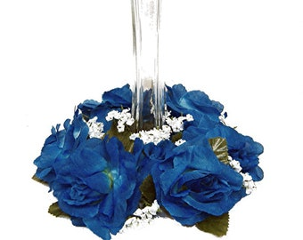 Blue Silk Flower Etsy