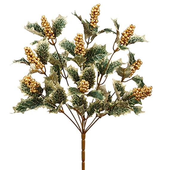 Artificial Silk Mistletoe Christmas Bunch Large 14 Inches