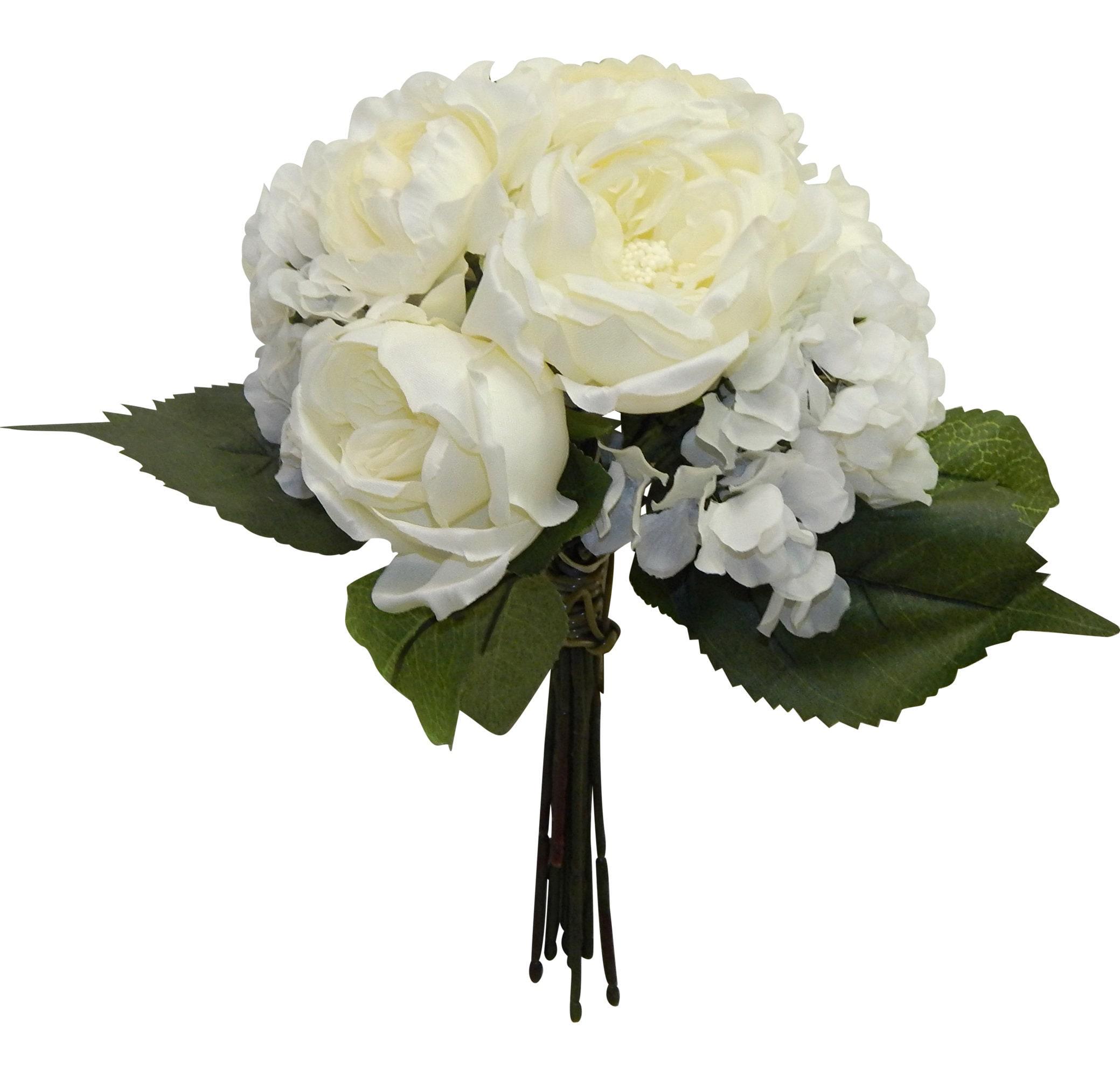 Cream Off White Cabbage Roses Hydrangeas Bouquets Bride Etsy