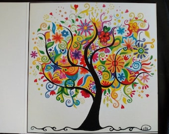 """Business card """"the tree of a thousand colors."""