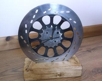 Motorcycle Brake Disc & Sprocket Clock Steampunk Industrial Clock