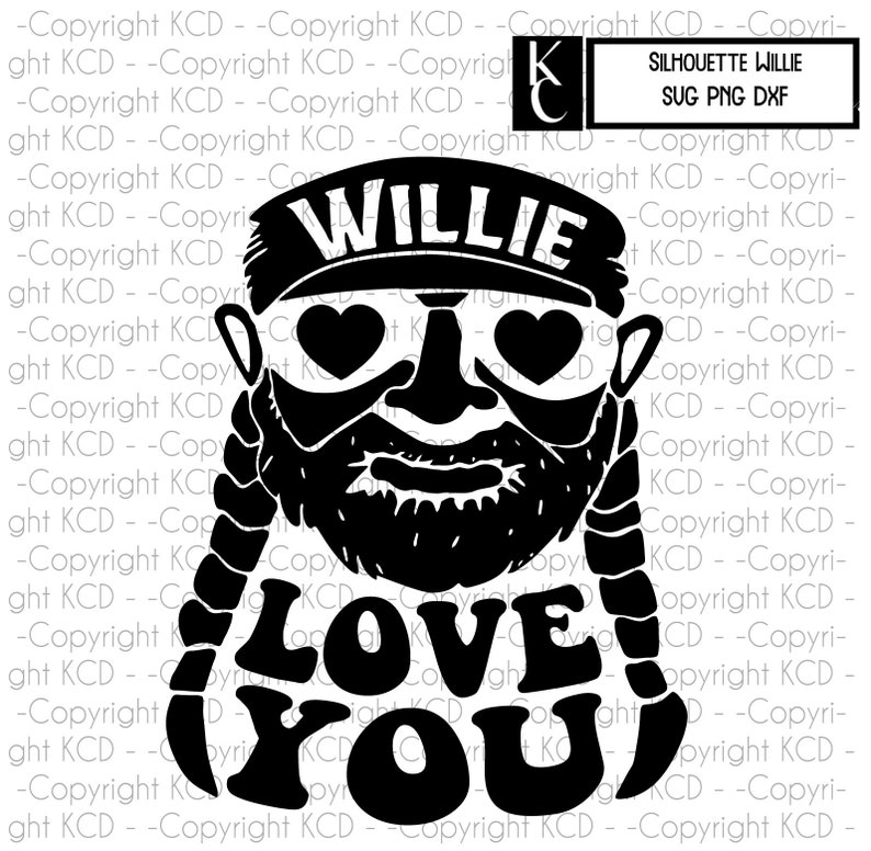 Willie Nelson Svg Valentines Day Layered Cut File Etsy