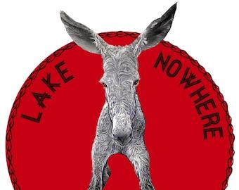 Tote Bag with Jadon of Lake Nowhere Baby Donkey