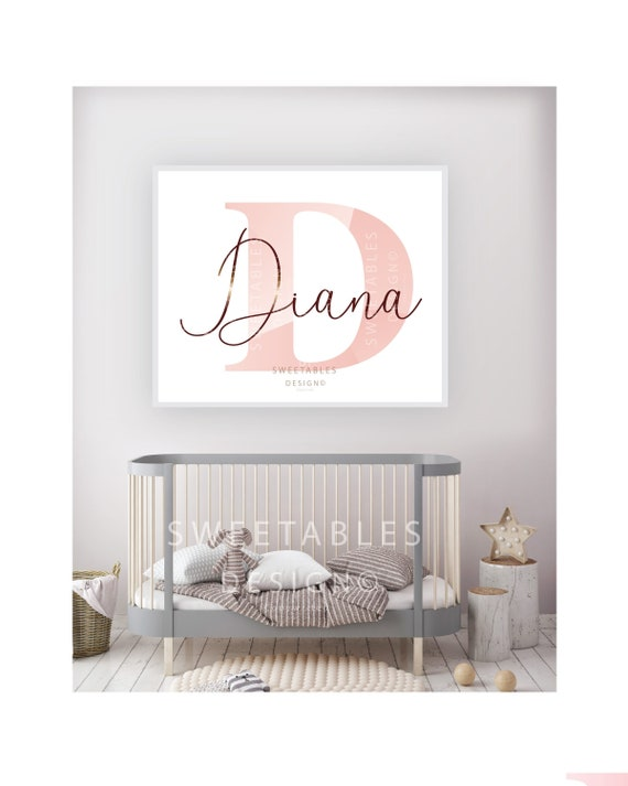 Babies Room Art Personalized Name Nursery Decor Baby Shower Gift,Nursery Name Decor Custom Name Gift Name Wall Art Girls Bedroom Decor